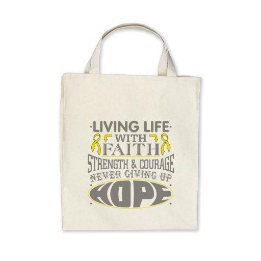 Ewing Sarcoma Living Life with Faith Tote Bag