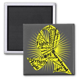 Ewing Sarcoma Powerful Ribbon Slogans 2 Inch Square Magnet