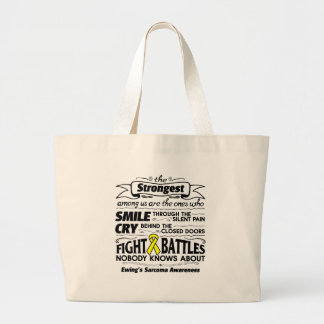 Ewing Sarcoma Strongest Among Us Large Tote Bag