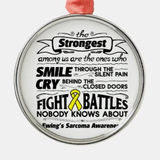 Ewing Sarcoma Strongest Among Us Metal Ornament