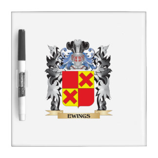 Ewings Coat of Arms - Family Crest Dry-Erase Board