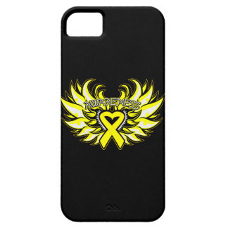Ewings Sarcoma Awareness Heart Wings iPhone SE/5/5s Case