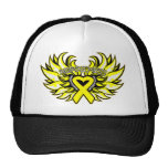 Ewings Sarcoma Awareness Heart Wings.png Trucker Hat