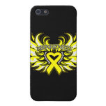 Ewings Sarcoma Awareness Heart Wings.png iPhone 5 Covers