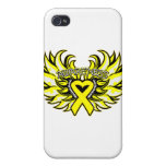 Ewings Sarcoma Awareness Heart Wings.png iPhone 4/4S Cover