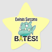 Ewings Sarcoma BITES Star Sticker