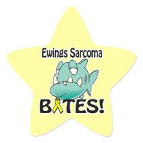 Ewings Sarcoma BITES Star Sticker