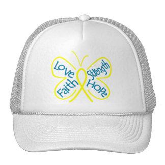 Ewings Sarcoma Butterfly Inspiring Words Trucker Hat
