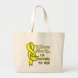 Ewings Sarcoma Cancer I'll Never Give Up Large Tote Bag