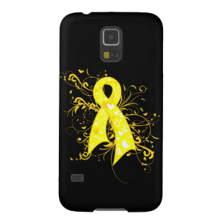 Ewings Sarcoma Floral Swirls Ribbon Case For Galaxy S5