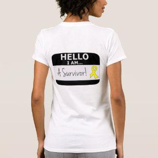 Ewings Sarcoma Hello I Am A Survivor T-shirt