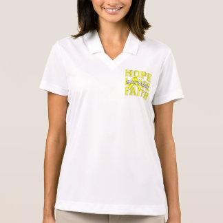 Ewings Sarcoma Hope Love Faith Survivor Polo Shirt