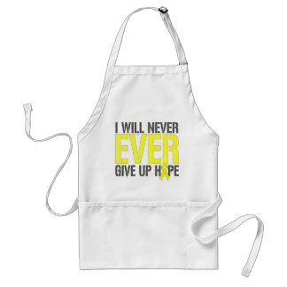 Ewings Sarcoma I Will Never Ever Give Up Hope Adult Apron