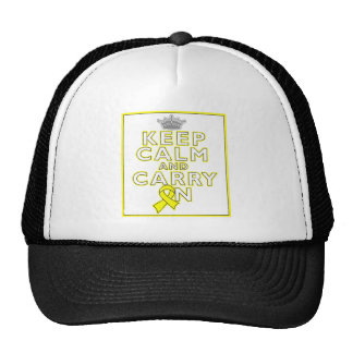 Ewings Sarcoma Keep Calm and Carry ON Trucker Hat