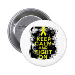 Ewings Sarcoma Keep Calm and Fight On Pinback Buttons