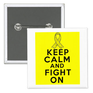 Ewings Sarcoma Keep Calm and Fight On Pinback Button