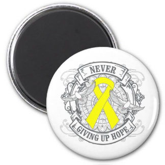 Ewings Sarcoma Never Giving Up Hope 2 Inch Round Magnet
