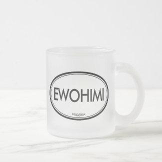 Ewohimi, Nigeria 10 Oz Frosted Glass Coffee Mug
