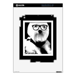 Ewok. Cute maltese with glasses iPad 2 Decal