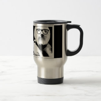 Ewok. Cute maltese with glasses Travel Mug