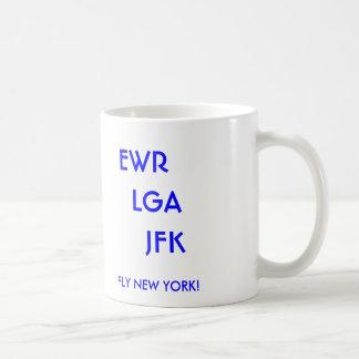 EWR   LGA     JFK, I FLY NEW YORK! COFFEE MUG