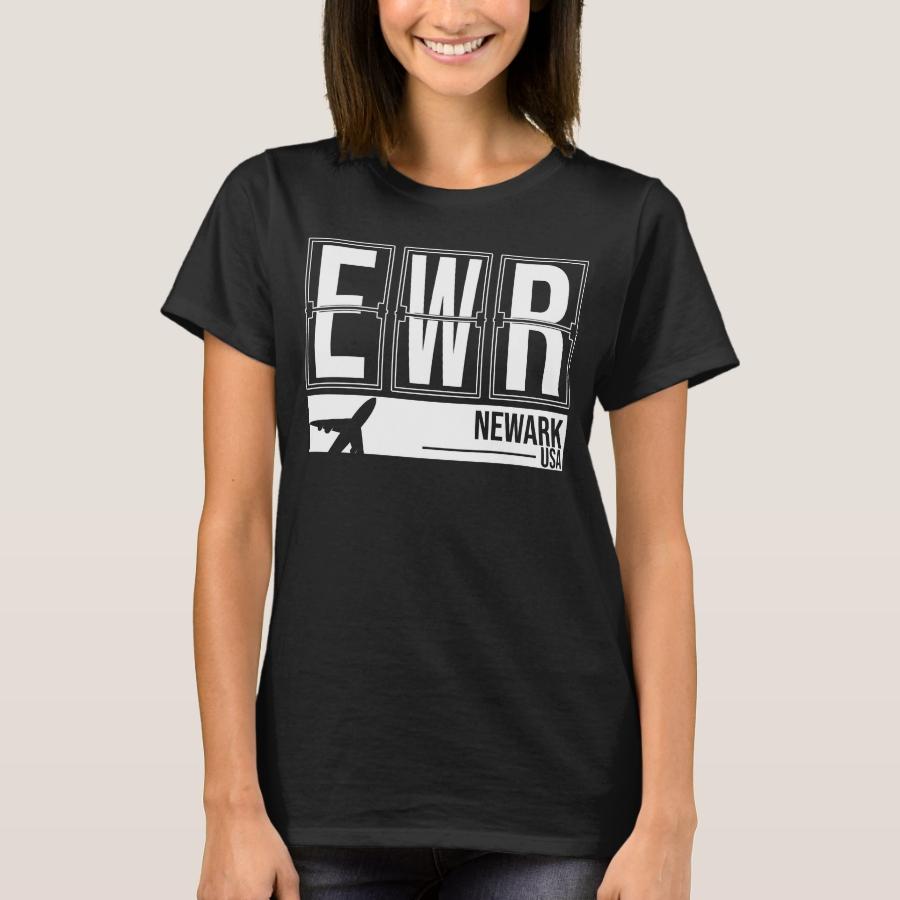 EWR Newark, New Jersey, USA - Airport Code T-Shirt - Best Selling Long-Sleeve Street Fashion Shirt Designs