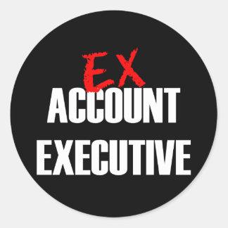 EX ACCOUNT EXEC CLASSIC ROUND STICKER