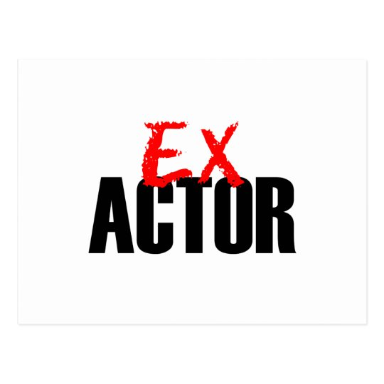 EX ACTOR LIGHT POSTCARD