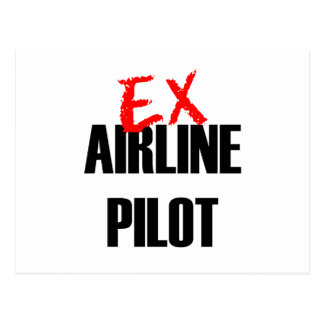 EX AIRLINE PILOT POSTCARD