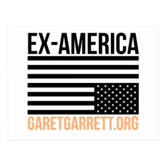 Ex-America Inverted Flag Postcard