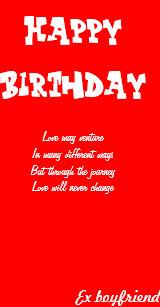 Boyfriend birthday cards zazzle ex boyfriend birthday cards m4hsunfo