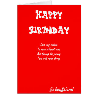 Ex boyfriend birthday cards