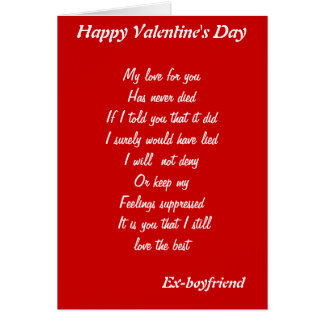 Ex-boyfriend valentine's day cards