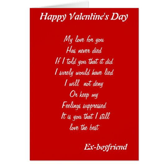 Ex Boyfriend Valentineu0027s Day Cards