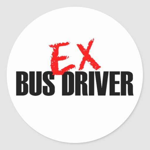 EX BUS DRIVER LIGHT STICKERS