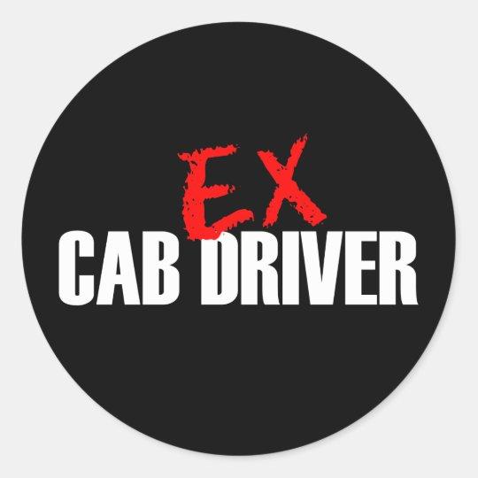 EX CAB DRIVER DARK CLASSIC ROUND STICKER