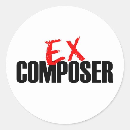 EX COMPOSER LIGHT CLASSIC ROUND STICKER