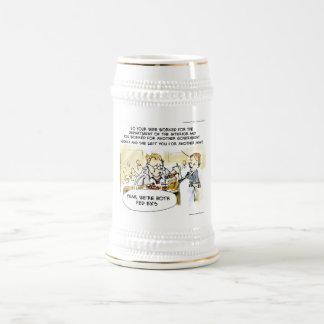 Ex cónyuge federal divertido jarra de cerveza