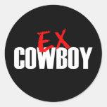 EX COWBOY CLASSIC ROUND STICKER