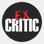 eX CRITIC Classic Round Sticker