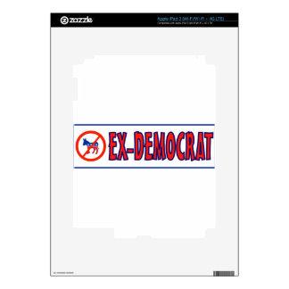 EX-DEMOCRAT iPad 3 PEGATINA SKIN
