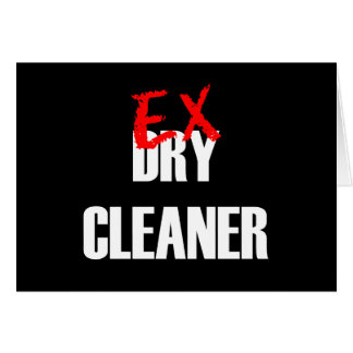 EX DRY CLEANER CARD