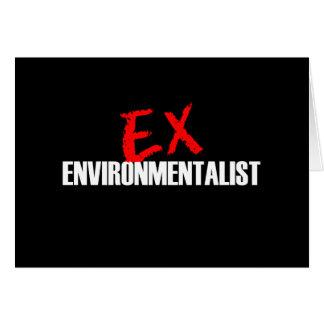 EX ENVIRONMENTALIST DARK GREETING CARDS