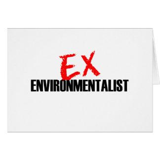 EX ENVIRONMENTALIST LIGHT GREETING CARD