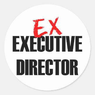 EX EXEC DIRECTOR LIGHT CLASSIC ROUND STICKER