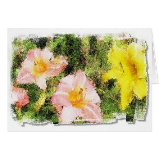 Ex exhibición floral tarjeta de felicitación