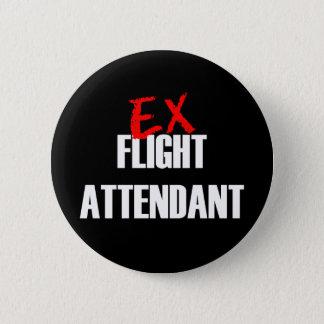 EX FLIGHT ATTENDANT DARK BUTTON