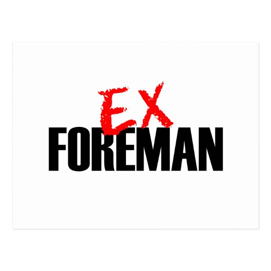 EX FOREMAN LIGHT POSTCARD