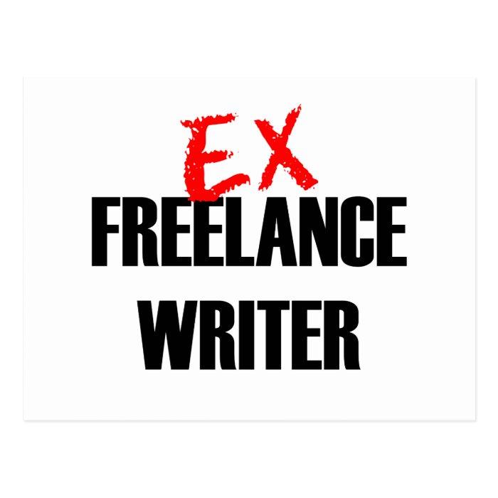EX FREELANCE WRITER DARK POSTCARD