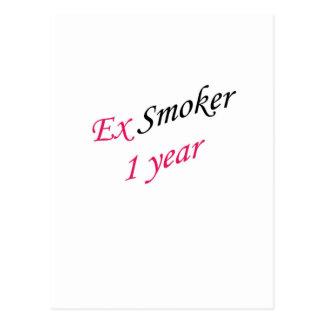 ex-fumador de 1 año tarjetas postales